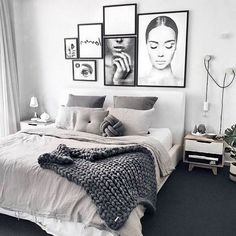 Apartment decor Modern - Gorgeous Modern Scandinavian Bedroom Design And Decor Ideas Modern Master Bedroom, Modern Bedroom Decor, Scandinavian Bedroom, Stylish Bedroom, Bedroom Rustic, Contemporary Bedroom, Modern Decor, Bedroom Boys, Cozy Bedroom