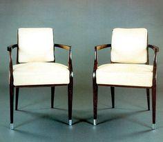 Art deco design chair - CR101 by Jacques-Emile Ruhlmann - ArchiExpo