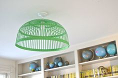 $10 Ikea pendant gets a colorful makeover for the kids playroom