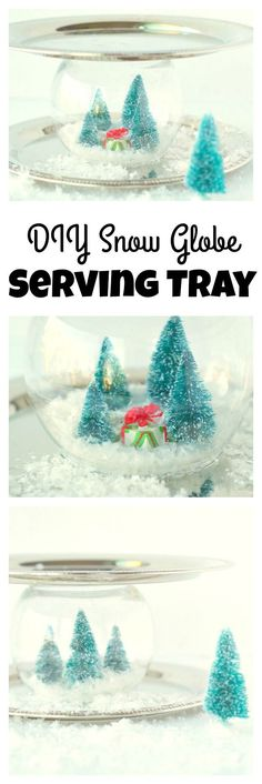 DIY Snow Globe Servi