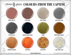 China Glaze Colours From The Capitol nail polish colors inspired by The Hunger Games