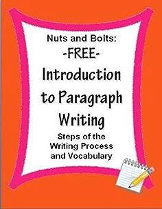 FREE Paragraph Writing Introduction~  These print-and-go worksheets include the steps of the writing process and key vocabulary.  Use these printables to support any writing program.  Other companion products are available.  #writing #paragraph #free
