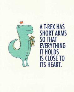 Trex short arms warm feelings