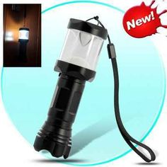 LED Camping Lamp/Flashlight - Water Resistant, Aluminum Casing, Bright 3W LED