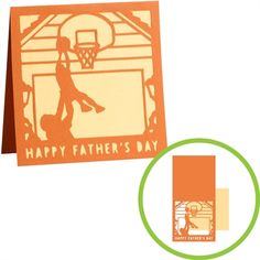 This is the perfect card for a dad who loves to play basketball! Create this for your dad in #Cricut Craft Room for Father's Day!