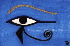 """Original Drawing """"Horus' Eye"""" by Karolina Gassner (karogfineart) #symbolic"""