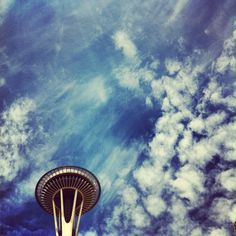 Seattle Space Needle on a sunny day. May 30, 2012. Photo by Bradley Hanson. www.bradleyhanson.com
