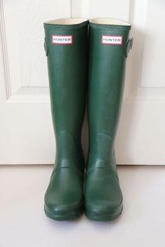 NEW in box HUNTER Original Tall Rain Boot GREEN matte women size US 5 6 7 8 9 10 #Hunter #Rainboots #Casual
