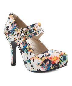 Love this Black Floral Trench Pump on #zulily! #zulilyfinds