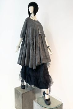 Brasilia Dress in Grey Stonewash Carnaby | KALIYANA.COM Online Sales, Eclectic Style, Hemline, Ballet Skirt, Dresses With Sleeves, The Incredibles, Boho, Grey, Skirts