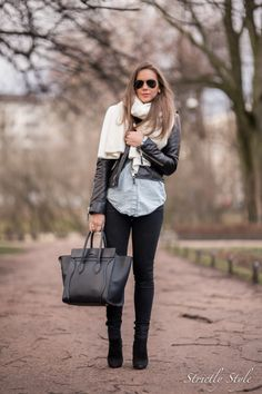 leather jacket fall outfit