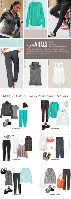 Style | Athleta- I love these color combos. Especially like the looses panter pants in photo 3. Everything look comfy!