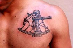 Amanda Clock Tattoos, Tattoo Art, Navy Tattoos, Tattoos For Guys, Sextant Tattoo, Maritime Tattoo, Sailing Tattoo, Scuba Gear, Grillz
