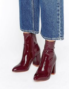 Public Desire   Public Desire Raya Sock Heeled Ankle Boots