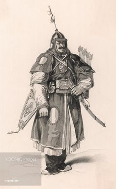 A Tatar warrior of the Chinese army