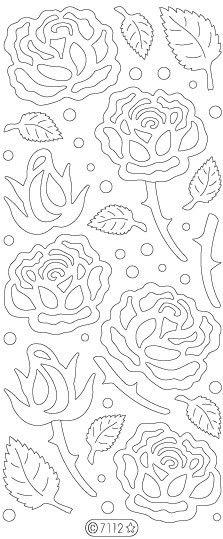 Velvet Roses 7112 - ElizabethCraftDesigns.com