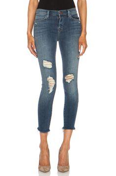 j brand jeans | J Brand Cropped Mid-Rise Skinny in Fury | FWRD