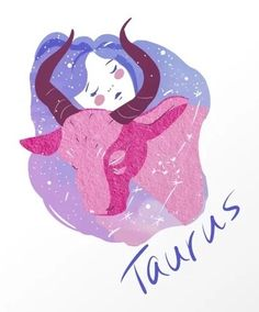 Taurus Art Print by katyaleshire Taurus Art, Zodiac Signs, Astrology, Art Prints, Anime, Taurus, Messages, Art Impressions, Zodiac Constellations