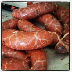 Homemade Italian hot sausage links!