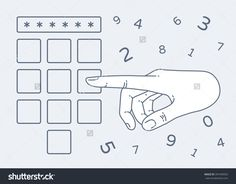 Vector Flat Style On Background. Illustration Of Enter Secret Pin Code. Hand And Finger Pushing Button On A Keypad. Password And Unlock, Access, Identification, Unlock Symbol. Buttons - 397449052 : Shutterstock