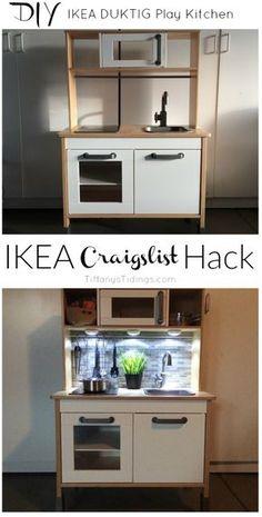 Cocina Ikea con luces y trasera