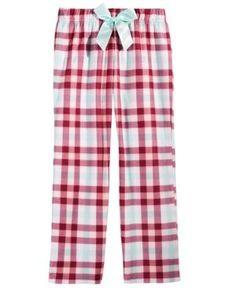 Max & Olivia Plaid Sleep Pants, Little Girls (4-6X) & Big Girls (7-16), Created for Macy's - Red 6/6x