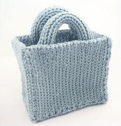 Basic Tote Bag Knitting Loom ~*~ Free Pattern