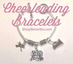 Just LOVE these Limited Edition cheerleading bracelets on ShopSmartte.com !