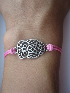Hey, I found this really awesome Etsy listing at https://www.etsy.com/listing/152012771/owl-bracelet-waxed-cord-bracelet