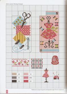 0 point de croix grille et couleurs de fils atelier couture de veronique enginger