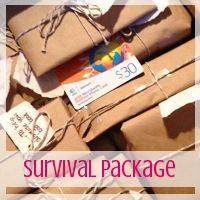 Care Package: Deployment Survival Box // Love From Home She has lots of great ideas