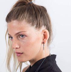 Long Bar Dangle Earrings, Silver Dangle Earring, Long Boho Earring, Statement Earring, Unusual Earring Oxidized Silver Earring Urban Jewelry #etsy #jewelry #earrings #silver #statementearrings #longbohoearrings #black #unusualearrings #urbanearrings #oxidized