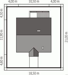 DOM.PL™ - Projekt domu AC Bogna II CE - DOM AE2-08 - gotowy projekt domu