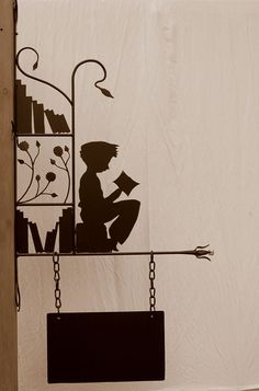 reader's silhouette. #reading, #books