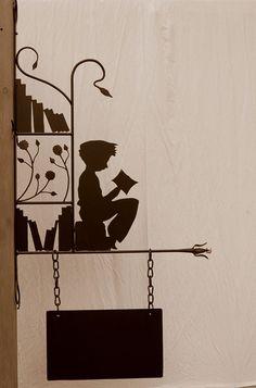 reader's silhouette. #reading, #books