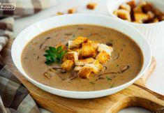Restauracyjny przepis na kremową zupę grzybową z grzankami Thai Red Curry, Catering, Good Food, Ethnic Recipes, Ikea, Christmas Recipes, Kitchen, Cooking, Catering Business