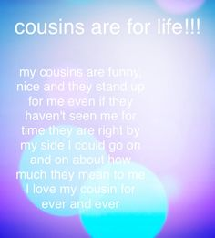 My cousin lives far away but I still see her in my heart 💜 Best Cousin Quotes, Little Brother Quotes, Proud Mom Quotes, Nephew Quotes, Aunt Quotes, Father Daughter Quotes, Father Quotes, Sister Quotes, Family Quotes