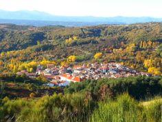 Preciosa panorámica de La Garganta en Otoño cedida por Turismo Extremeño @caceresturismo