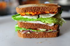 Pioneer Woman's Killer Club Sandwich  Really just want to make some of the spreads she uses on this sometime.