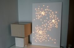 fairy lights canvas DIY