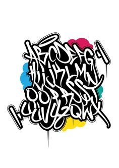 Graffiti Tag Alphabet by İbrahim ERASLAN, via Behance Graffiti Text, Graffiti Tagging, Graffiti Drawing, Street Art Graffiti, Graffiti Alphabet Styles, Graffiti Lettering Alphabet, Tattoo Lettering Fonts, Lettering Styles, Tag Alphabet