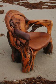 cedar driftwood chair | Flickr - Photo Sharing!
