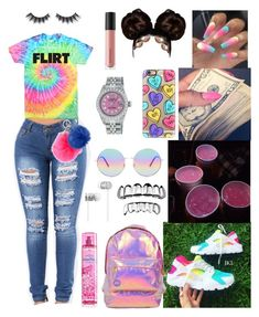 Colorful tie dye ♡️ by flawlessgirlty on Polyvore featuring polyvore fashion style Miss Selfridge Rolex Casetify Forever 21 Beats by Dr. Dre claire's Michael Kors Bare Escentuals Violet Voss clothing