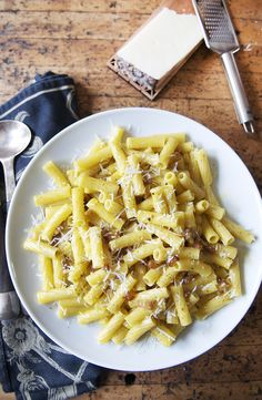 Rigatoni Carbonara: this dish is superb, even without fussy ingredients, but it becomes HEAVENLY with a seriously good cheese, and orange-yolked farm fresh eggs.