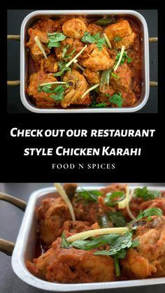 Karahi Recipe, Pakistani Dishes, Chicken Karahi, Asian Recipes, Chicken Recipes, Curry, Spices, Cooking Recipes, Restaurant