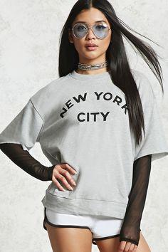 New York City Graphic Combo Top