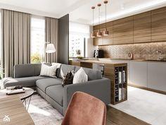 Small Apartment Design, Apartment Interior Design, Kitchen Interior, Interior Design Living Room, Living Room Designs, Living Room And Kitchen Design, Modern Kitchen Design, Home Living Room, Living Room Decor