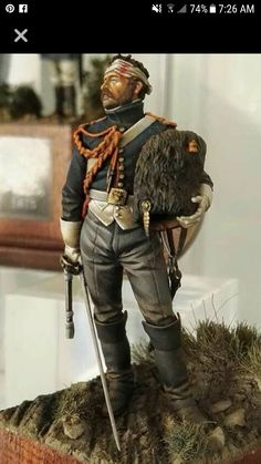 Napoleonic Imperial guard miniature