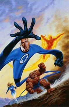 Fantastic Four, Joe Jusko, Marvel comic, art illustration Comic Book Artists, Comic Book Characters, Comic Book Heroes, Marvel Characters, Comic Artist, Comic Character, Comic Books Art, Fictional Characters, Marvel Comics Art