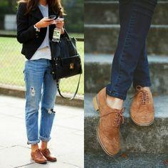 Outfits con zapatos Oxford: Aprende a usar de mil formas los zapatos Oxford Brown Shoes Outfit, Loafers Outfit, Oxford Shoes Outfit, On Shoes, Dress Shoes, High Heel Pumps, Pumps Heels, Look Oxford, Brown Oxfords
